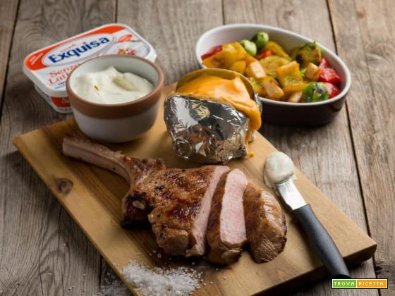 Tomahawk di vitello con patate e verdure, una delizia!