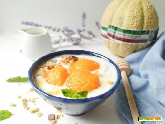 Melone con crema allo yogurt