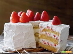 Torta di Compleanno alle Fragole e Mascarpone