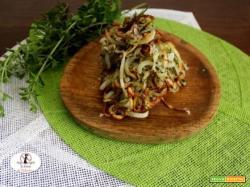 Riccioli di patate di montagna alle erbe del mio orto aromatico in friggitrice ad aria