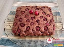 Torta ciliegie e cioccolato con il bimby