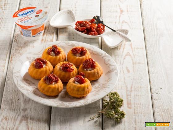 Tortini con pomodoro e fiocchi Exquisa, un antipasto delizioso!