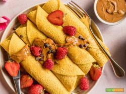 Crespelle con Farina di Ceci Senza Uova Senza Glutine | GF Vegan Chickpea Crepes