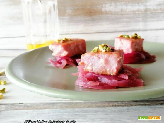 Bocconcini di tonno alle cipolle caramellate