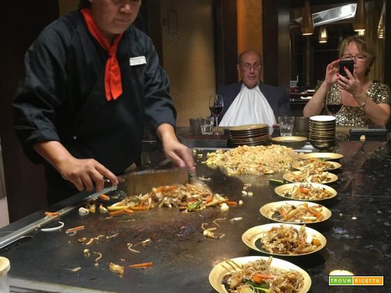 Cucina Japan Teppanyaki: riso fritto con verdure