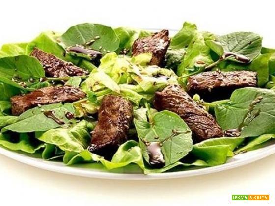 Salada mignon (insalata con filetto di manzo)