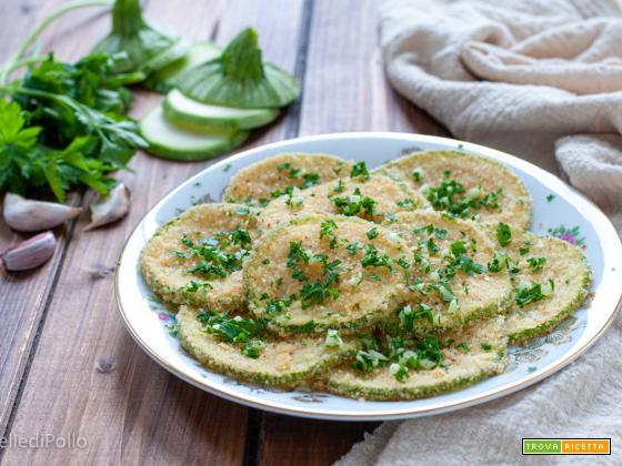Zucchine tonde gratinate al forno