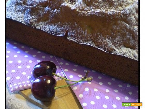 Plumcake con le ciliegie ( senza burro )