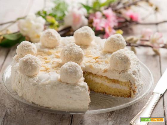 Torta Raffaello, una meraviglia al pan di Spagna