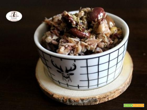 Insalata di cereali, filetti di tonno e olive taggiasche super rapida