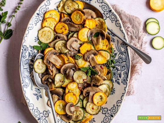 Zucchine alla Scapece Non Fritte con Funghi