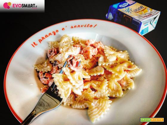 Farfalle panna e salmone light e senza lattosio con Meggle Italia