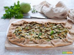 Galette salata alle zucchine con farina integrale