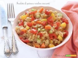 Insalata di quinoa e verdure croccanti