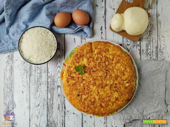 Frittata di riso alla scamorza