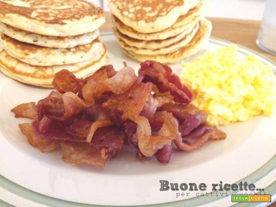 Scrambled eggs e bacon… uova e pancetta!
