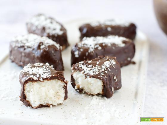 Barrette Cocco e Cioccolato Light (con yogurt greco, senza zucchero)