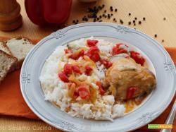 Pollo ai peperoni e gorgonzola