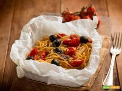 Spaghetti al cartoccio con acciughe, una prelibatezza!