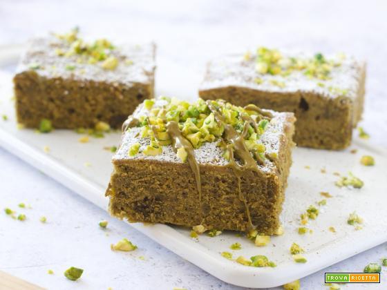 Torta Tenerina al Pistacchio (senza olio, senza burro)
