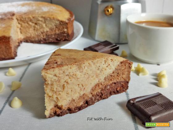Torta Proteica Cacao Caffè e Cioccolato Bianco