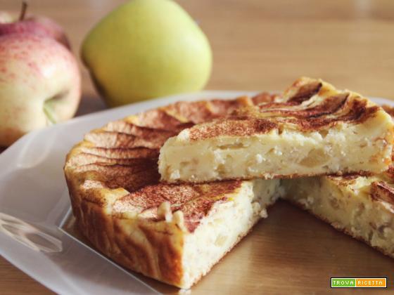 Torta di mele, ricotta e grano