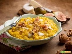 Risotto con fichi e tomino, un risotto agrodolce