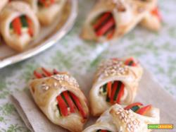 Fagottini di Pasta Sfoglia con verdure estive