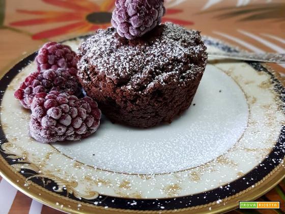 Muffin al cacao senza glutine e lattosio