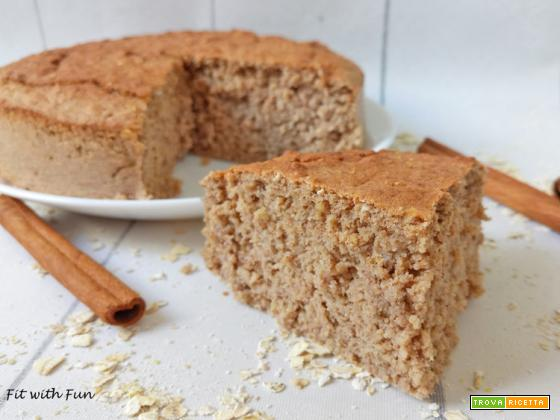 Torta Fit Albumi e Avena Senza Zucchero