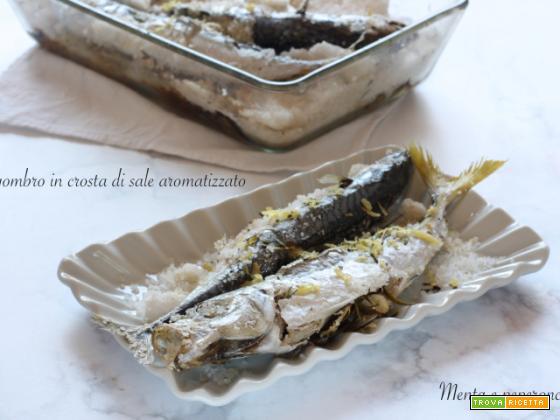 Sgombro in crosta di sale aromatizzato