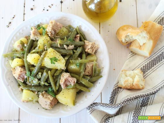 Insalata di patate tonno e fagiolini