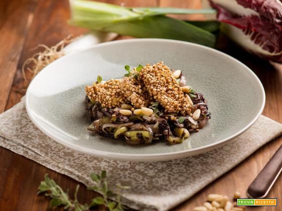 Trota impanata con quinoa soffiata, piatto d'alta classe