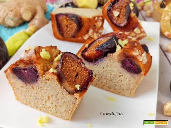 Muffin Light e Proteici Fichi Nocciole e Zenzero