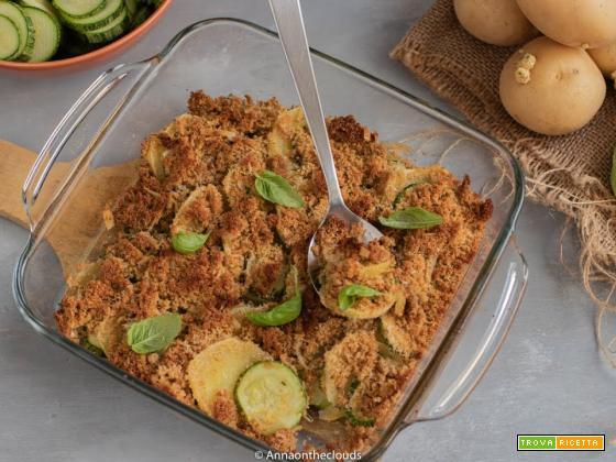 Patate e zucchine gratinate: ricetta al forno