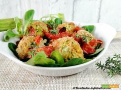 Bocconcini di merluzzo e zucchine ai pomodorini