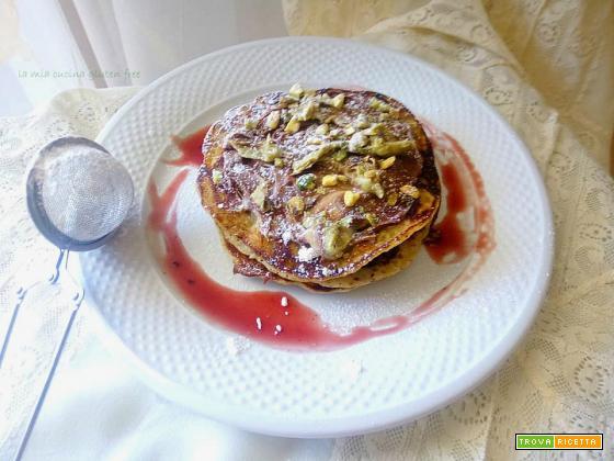 Pancake senza glutine al pistacchio