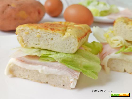 Tramezzino Gateau 4 Ingredienti Proteico Senza Glutine
