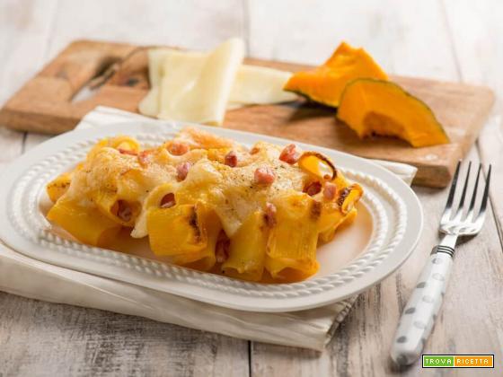 Pasta al forno con zucca ed Emmental, deliziosa