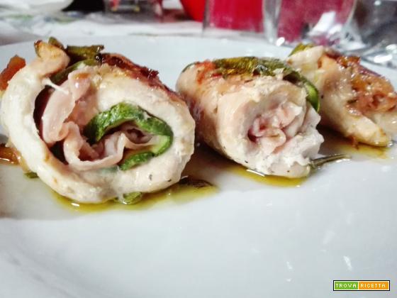 Involtini di pollo con zucchine grigliate