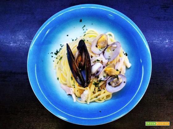 Spaghetticon molluschi e crostacei