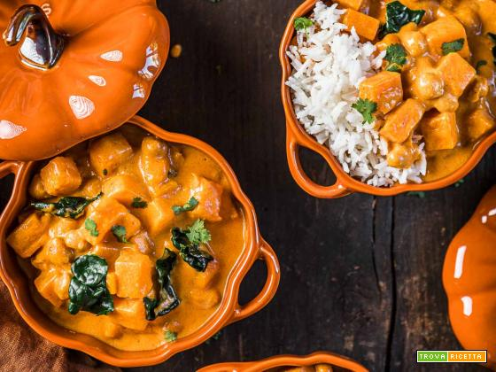CURRY di CECI e ZUCCA VEGAN PUMPKIN CHICKPEA CURRY