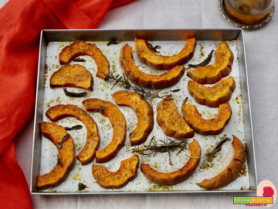 Zucca in forno col mio sale aromatizzato: benvenuto autunno!