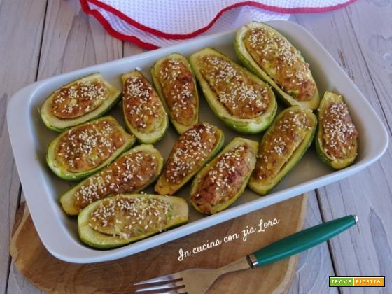 Zucchine ripiene al forno ricetta semplice