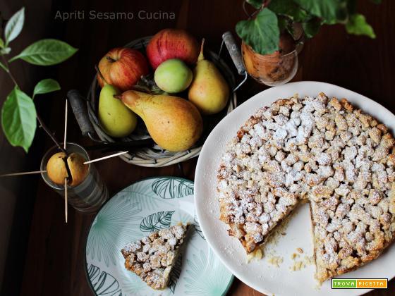Torta di pere, noci e cioccolato