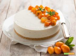 Cheesecake con kumquat, una torta aromatica