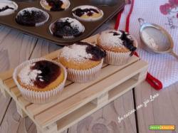 Muffin con marmellata di mirtilli