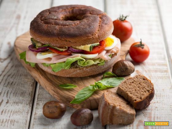 Pane con farina di castagne, una ricca merenda fusion