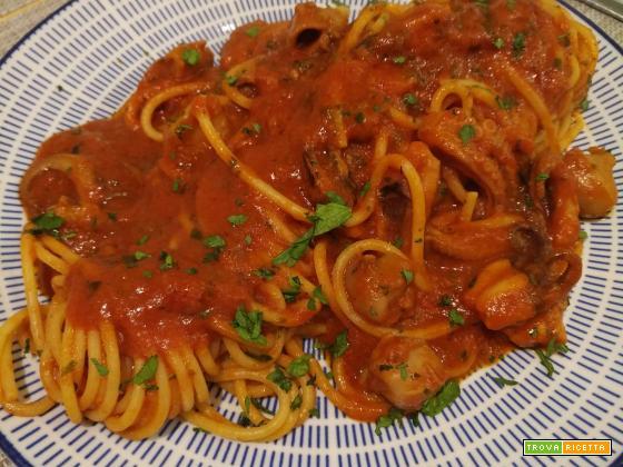 Spaghetti con i polipetti