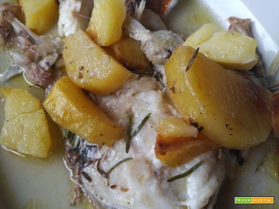 Pezzogna al forno con patate